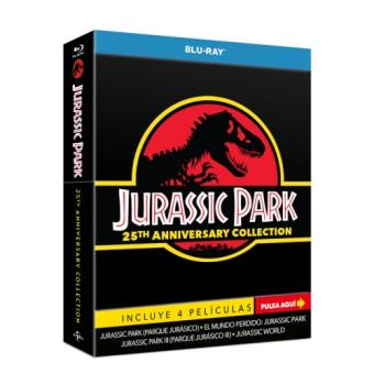 Parque Jurásico 1-3 + Jurassic World   Edición Coleccionista 25º Aniversario - Blu-Ray