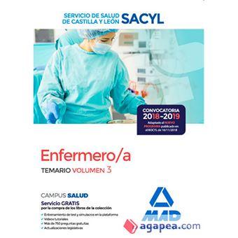 Enfermero/a del Servicio de Salud de Castilla y León - Temario volumen 3
