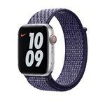 Correa deportiva Loop Nike morado pulso para Apple Watch 44 mm