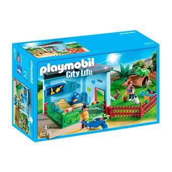 Playmobil City Life Habitación pequeñas mascotas