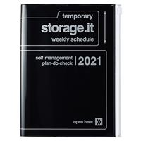Agenda Marks 2020/21 A5 Storage.it negro