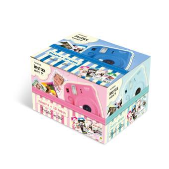Cámara instantánea Fujifilm Instax Mini 9 Rosa flamingo Kit