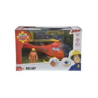 Wallaby, helicóptero con figura y accesorios Sam El Bombero