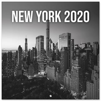 Calendario de pared 2020 Erik 30x30 multilingüe New York Black&White