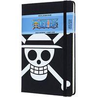 Cuaderno de rayas Moleskine One Piece negro