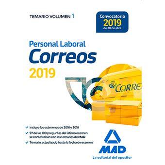 Personal Laboral de Correos y Telégrafos - Temario Vol 1