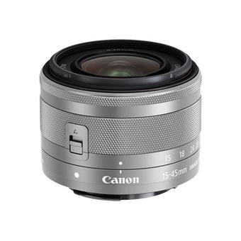 Objetivo Canon EF-M15-45 mm F3.5-5.6 IS STM Plata