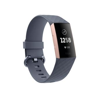 Smartband Fitbit Charge 3 Oro Rosa/Gris Azulado