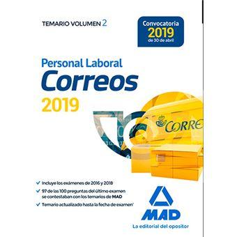Personal Laboral de Correos y Telégrafos - Temario Vol 2