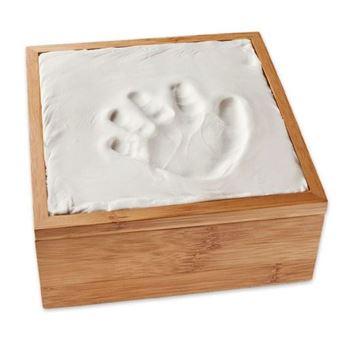 Caja de bambú Primeras huellas Bebé