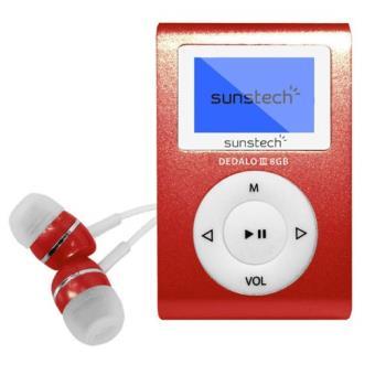 MP3 Sunstech Dedalo III 8GB Rojo