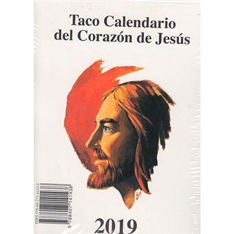 Taco calendario 2019 del Corazón de Jesús pared + soporte