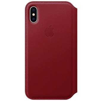 Funda Apple Leather Folio Rojo para iPhone X