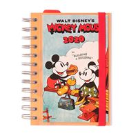 Agenda mediana 2020 Erik día página espiral Walt Disney Mickey Mouse Films