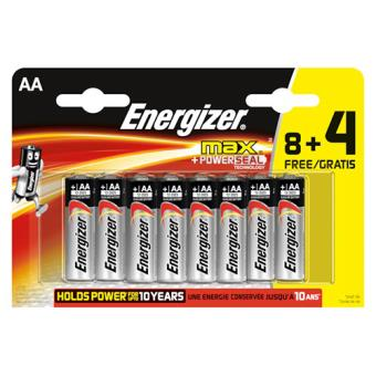 Energizer pack 8+4 AA MAX