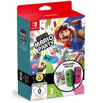 Super Mario Party Joy Con Verde Rosa Nintendo Switch Para Los