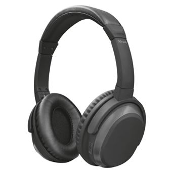 Auriculares Noise Cancelling Trust Urban Paxo Negro