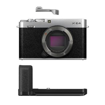 Cámara EVIL Fujifilm X-E4 Plata Body + Kit accesorios