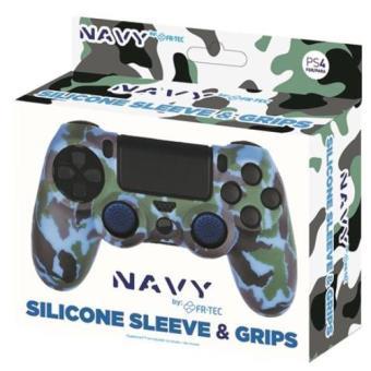 Funda de silicona + grips Camo Navy para Dualshock PS