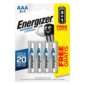 Pilas AAA Energizer Ultimate Lithium L92 - 3+1 unidades