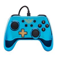 Mando con cable Zelda cromado azul  Nintendo Switch