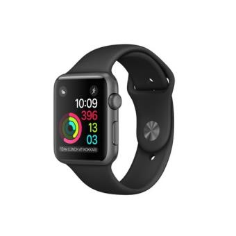 Apple Watch S1 42mm aluminio en gris espacial y correa deportiva negra