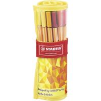 Estuche rollerset premium Stabilo Pen 88 - 25 colores surtidos