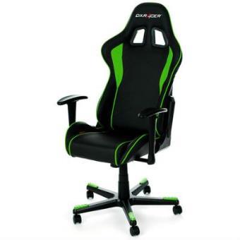 Silla dxracer oh fe08 ne negro verde videoconsola los for Sillas gaming rebajas
