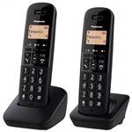 Teléfono inalámbrico Panasonic Dect KX-TGB612SPB Dúo Negro