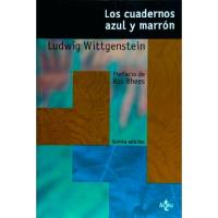 Los cuadernos azul y marrón