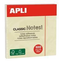 Apli Tacos de notas adhesivas 75x75 color