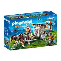 Playmobil Knights Carruaje de caballos con ballesta enanos