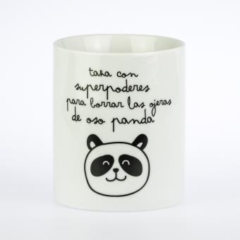 Mr Wonderful Taza - Super poderes para borrar las ojeras de oso panda