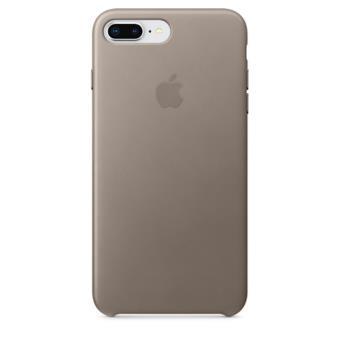 Funda Apple Leather Case para el iPhone 8 Plus/7 Plus Marrón topo