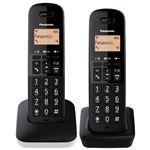 Teléfono inalámbrico Dúo Panasonic Dect KX-TGB612SPW Blanco / Negro