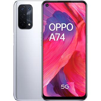 OPPO A74 6,49'' 5G 128GB Plata