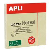Notas adhesivas 75x75 Zig Zag