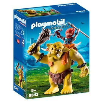 Playmobil Knights Trol gigante con mochila enano