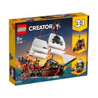 LEGO Creator 3 en 1 31109 Barco Pirata, Taberna o Isla Calavera