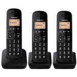 Teléfono inalámbrico Panasonic Dect KX-TGB613SPB Trío Negro