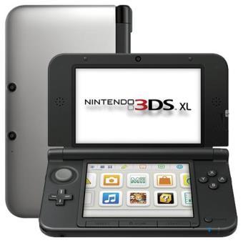 Consola Nintendo 3DS XL Negro y Plata