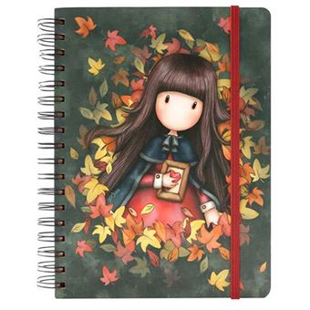 Libreta grande Gorjuss Autumn Leaves Wire-o