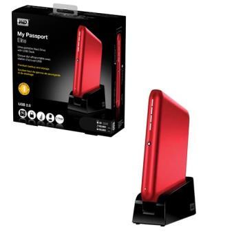 Western Digital My Passport Elite 500 GB color rojo Disco Duro Portátil PC