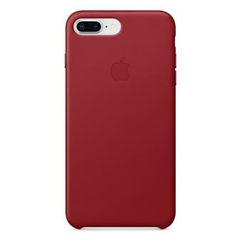 d4e1b499427 Funda Apple Leather Case Rojo para iPhone 7 Plus/8 Plus - Funda para ...