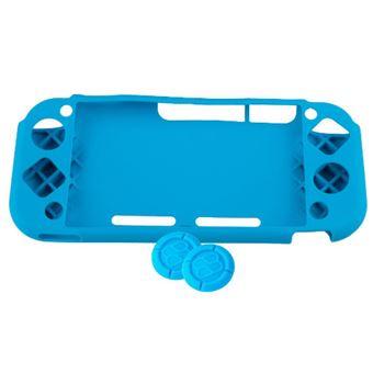 Funda de silicona + Grips Azul para Nintendo Switch Lite