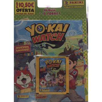 Blíster sticker álbum + 15 sobres Yo-kai Watch 2