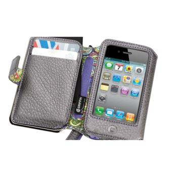 Griffin Elan Passport Funda + cartera en color gris para iPhone 4