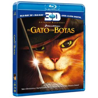 El gato con botas - Blu-Ray + 3D + Copia digital