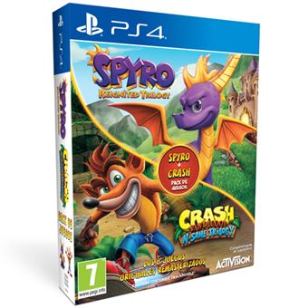 Spyro Reignited Trilogy + Crash Bandicoot N. Sane Trilogy PS4