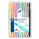 10 marcadores fluorescentes Staedtler Triplus Highlighter Pastel y Vintage colores variados